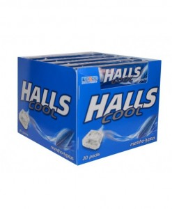 Halls Dropsy Cool Display 33,5g x 20
