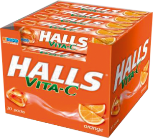 Halls Dropsy Vita-C Display 33,5g x 20